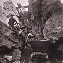 1000. Placer Mining--Among the Boulders, Columbia Claim, Columbia, Tuolumne County