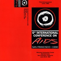 First Announcement - 6th International Conference on AIDS, San Francisco 1990
