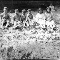 Harry Roberts at age seven to ten with a group of Indian ...