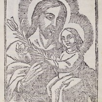 Christ holding a child