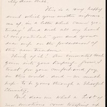 Aunt Mary, letter, 1887 Aug. 31, to William Kelly