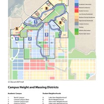 Campus Height and Massing Districts, UC Merced Long Range Development Plan