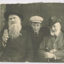[George Sterling with Joaquin Miller and Charles Stoddard.]