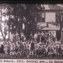First school, 1912, Central Ave., La Habra, Calif