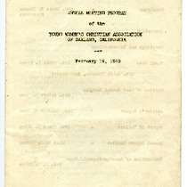 Annual meeting program of the Young Women's Christian Association of Oakland, California