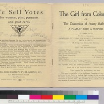 The Girl from Colorado; We Sell Votes (front and back spread of ...