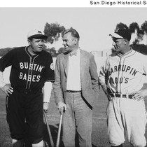 Babe Ruth, Carl Klindt, and Lou Gehrig