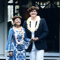 Vince and Patricia Whiting celebrating their fourth marriage