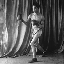Boxer Joe Ortega in a fighting pose