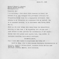 Letter, 1954 March 27, Los Angeles, Calif. to Senator Thomas H. Kuchel, ...