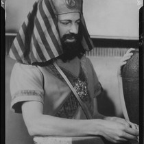 Actor Charles Anderson as Malak in a Sunday Players production, circa 1935