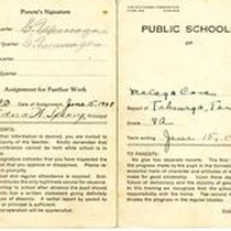 1928 report card for Tsutomu Takenaga