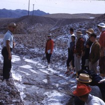 Professor and students at Salt Creek in Death Valley