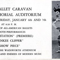 Brochure for Ballet Caravan performance at Avery Memorial Auditorium, January 6 and ...