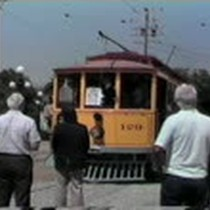 First operating day of the trolley at History Park, San Jose