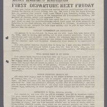 "Extra, ""First Departure Next Friday"" (11-17-45)"