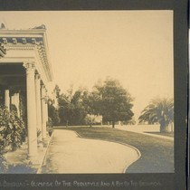 """The Bivouac""--Glimpse of the peristyle and a bit of the grounds. [Wilshire ..."