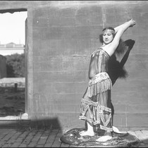 Actress depicting Athena. Third image
