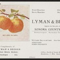 Lyman and Briggs, Agents for the sale of Sonoma County Land