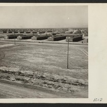 A typical barracks with a section of the Topaz Relocation Center. Photographer: ...
