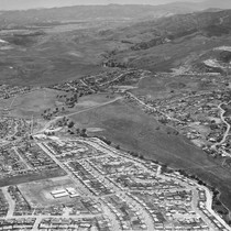 Aerial view of Glenwood school area and Lang Ranch