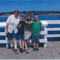 Aunt Donna and Cheryl's Boys at the Wharf