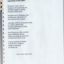 Apparitions of My Father and Other Poems