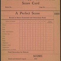 Gravenstein Apple Show of 1912 Score Card