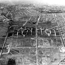 Aerial view of East Los Angeles