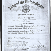 Army of the United States Honorable Discharge