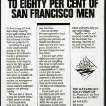 Congratulations to Eighty Percent of San Francisco Men