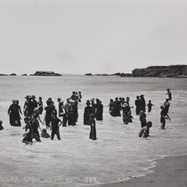 B.F. Conaway photograph of bathers at Laguna Beach