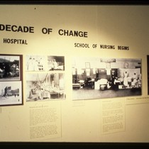 "UCSF Origins of Excellence exhibit ""A Decade of Change"""