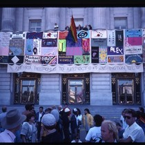 The NAMES Project AIDS Memorial Quilt panels displayed at San Francisco City ...