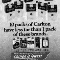 10 packs of Carlton have less tar than 1 pack of these ...