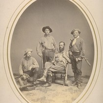 Field Party of 1864, L-R: James T. Gardner, Richard Cotter, W.H. Brewer, ...