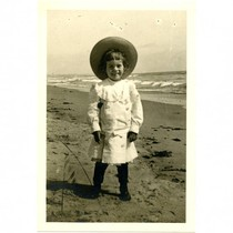A child at the beach in Los Angeles, circa 1900s
