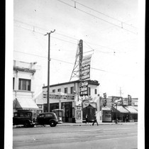 Alex Theatre, street elevation before remodel