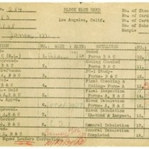 WPA bock face card for household census (block 2138) in Los Angeles ...