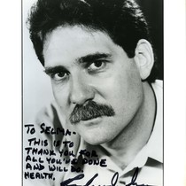 Richard Masur headshot signed to Selma Dritz