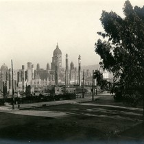 Group of Chimneys and City Hall from Van Ness Avenue, San Francisco ...