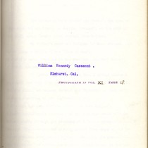 Autobiography and Reminiscence of William Kennedy Casement, Elmhurst, Cal., 1901
