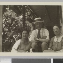 Beatrice Barrangon, Frederick O'Brien, and Mrs. Barrangon