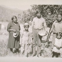 Philip Hunter and family; Tule River, Calif.; June 1932; 2 prints, 2 ...