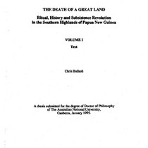 The death of a great land : ritual, history and subsistence revolution ...
