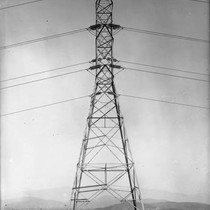 110 kv Transmisison Line Towers from San Francisquito Canyon Power Plant No. ...