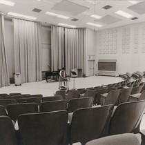 Photograph of a small music theater in the Music and Business Building