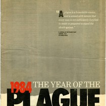 "Cover of San Francisco Chronicle AIDS special issue titled ""1984 The Year ..."