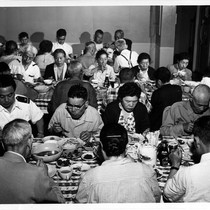 """3rd class dining room - PW. HVW '54"""
