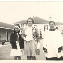 1. Anna Elkington and her brother and sister at Sacred Heart School, ...